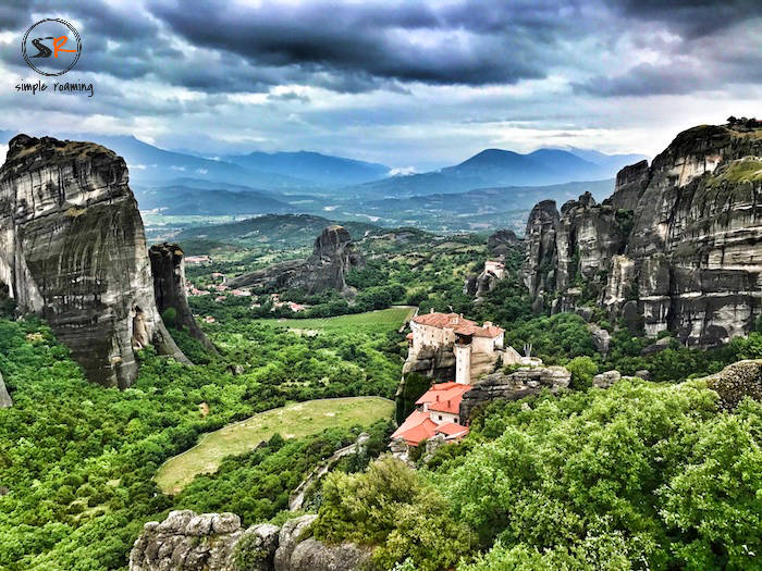 One of the monasteries in Meteora, Greece