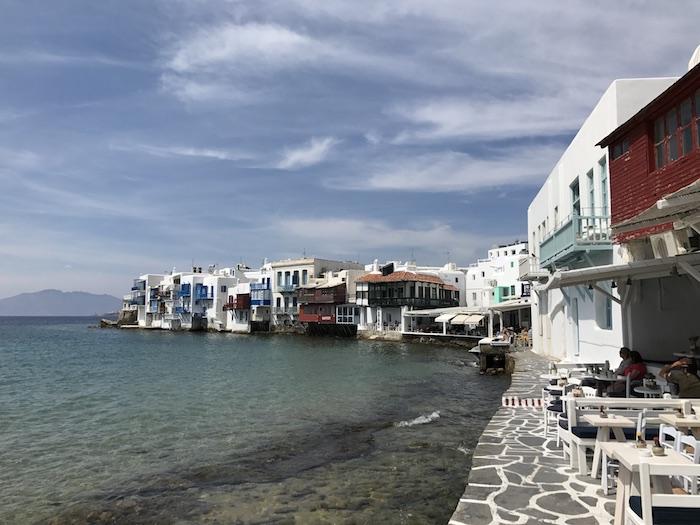 The Little Venice in Mykonos, Greece
