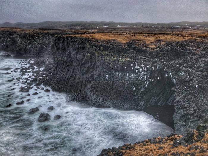 Arnarstapi Basalt Rock Cliff, Iceland