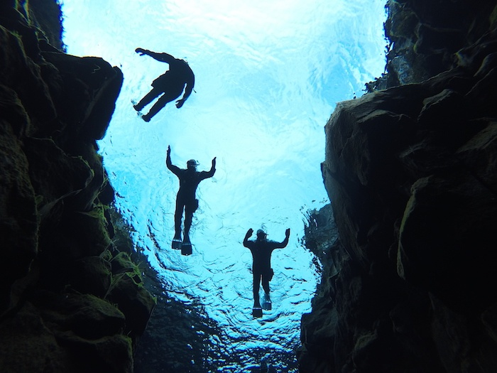 Snorkeling in the Silfra Fissure Iceland
